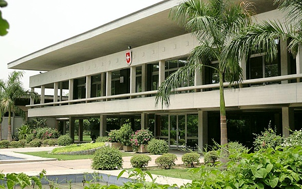 The embassy premises in New Delhi