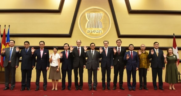 The Swiss delegation and the representatives of ASEAN