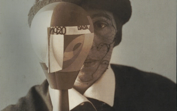 Self-Portrait of Swiss dada artist Sophie Taeuber-Arp with Dada-head