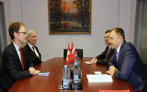 Minister of Interior of Latvia receive Ambassador Obolensky