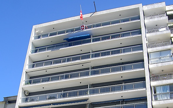 The embassy premises in Montevideo