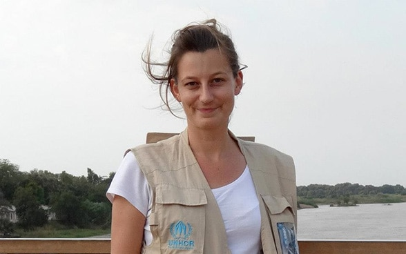 Dominique Reinecke, member of the Swiss Humanitarian Aid Unit (SHA)
