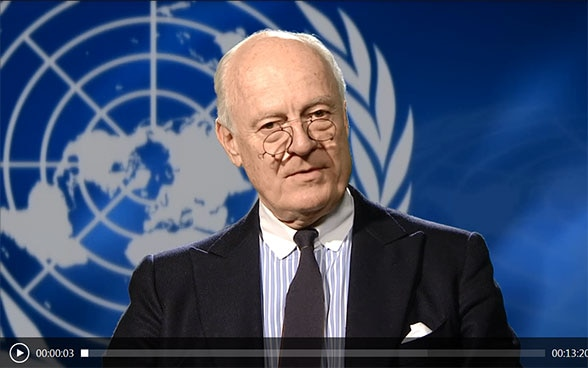 Video message featuring Staffan de Mistura, UN Special Envoy for Syria