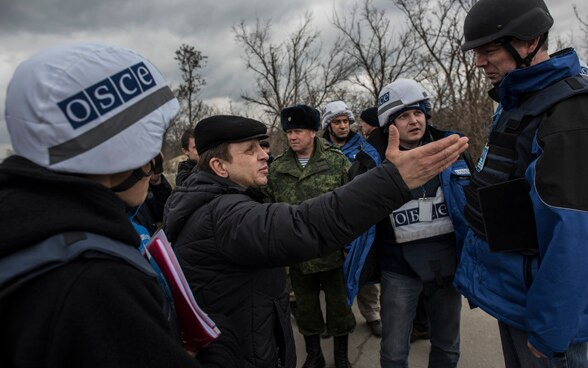 On patrol with the OSCE Special Monitoring Mission to Ukraine.