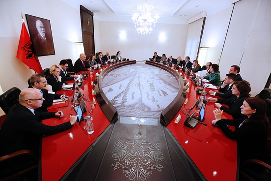 Meeting of the Government of Albania.