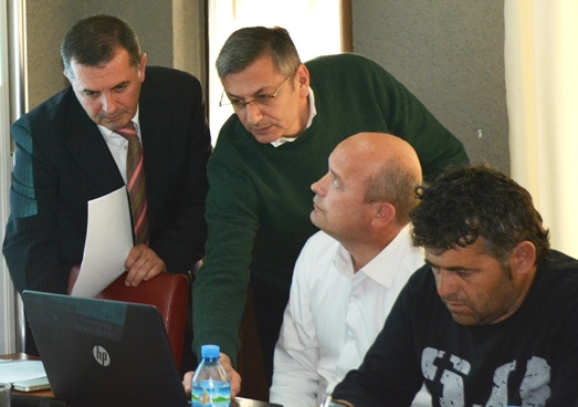 Local council members in Kukës, North Albania, during a training on the new public administration law.