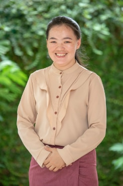 Ms. Bimoua, Junior Program Officer Intern at the SDC Office in Vientiane Capital, Lao PDR.