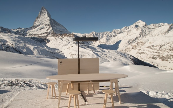 Swiss Touch is launched at the base of the Matterhorn.