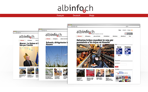 The albinfo.ch homepage